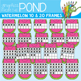 Watermelon Ten and Twenty Frame Clipart