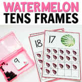 Watermelon Tens Frames (0-20) for Math Centers or Counting