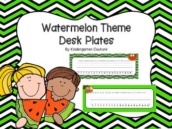Watermelon Theme Desk Plates