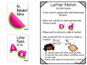 Watermelon Theme Math and Literacy Activities