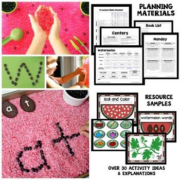 Watermelon Theme Preschool Lesson Plans