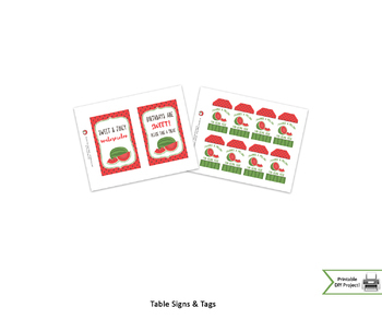 Watermelon Themed Birthday Party Decorations w/ Banners Toppers and Tags