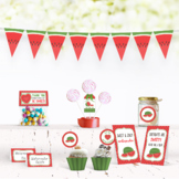 Watermelon Themed Birthday Party Decorations w/ Banners To