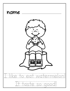 Watermelon Themed Math and Literacy Freebie