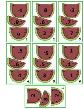 Watermelon Three Addends