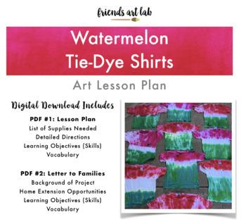 Watermelon Tie-Dye Shirts (Tie-Dye, Food Studies, Fractions, Summer)