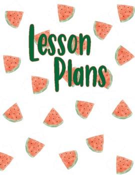 EDITABLE Watermelon Watercolor Binder Covers
