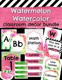 Watermelon Watercolor Classroom Decor Bundle