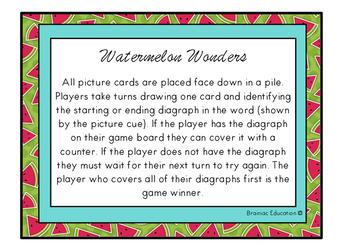 Watermelon Wonders Digraph Game