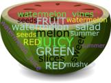 Watermelon Word Cloud