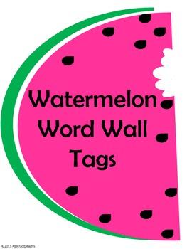 Watermelon Word Wall Tags