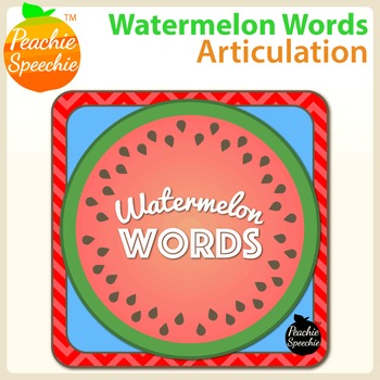Watermelon Words: Articulation Mats and Activity