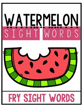 Watermelon Words {Sight Words}