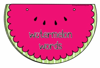 Watermelon Writing Activities - Learning Center - Summer