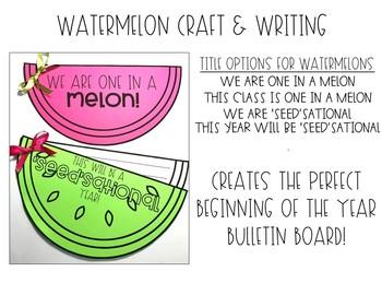 Watermelon Writing Craft