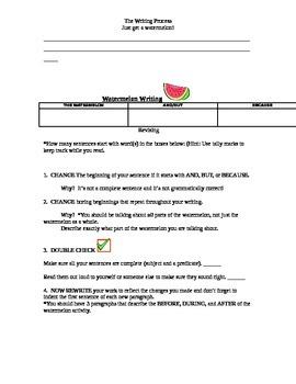 Watermelon Writing - Writing Process Unit