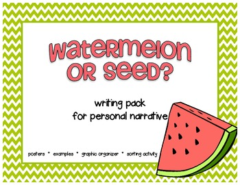 Watermelon and Seed packet for Narrative Writing Workshop