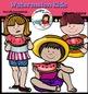 Watermelon kids clip art set- Color and B&W- 30 items!