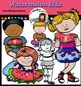 Watermelon kids clip art set- Color and B&W- 30 items!
