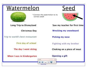 Narrative Watermelon vs Seed