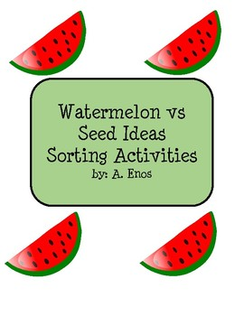 Watermelon vs Seed Topics Sort Activities