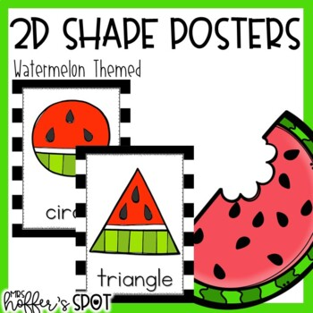 WatermelonThemed 2D Shapes Poster