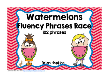 Watermelons Sight Word Fluency Phrases Race