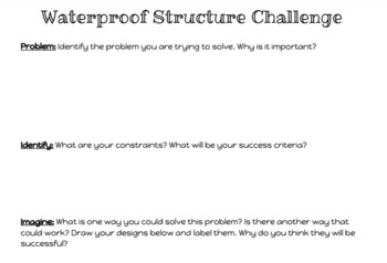 Waterproof Structure Engineering STEM Challenge