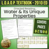 Directed Reading: Water's Unique Properties, w/KEYs for Li