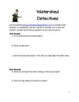 Watershed Detectives