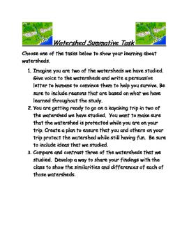 Watershed Performance Tasks