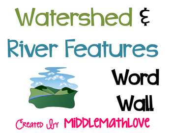 Watershed and River Features WORD WALL (Earth Science)