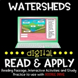 Watersheds DIGITAL Read and Apply for Distance Learning