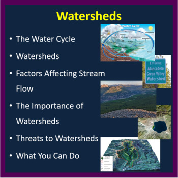 Watersheds - PowerPoint Lesson and Student Notes