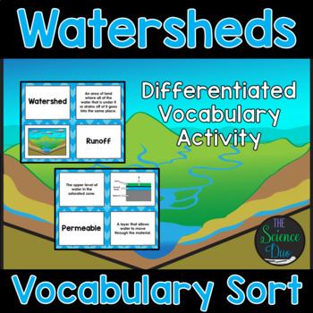 Watersheds Vocabulary Sort