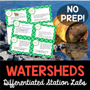 Watersheds and Human Impact Student-Led Station Lab