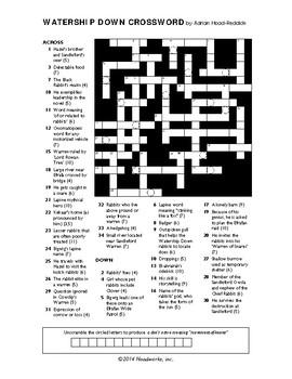 Watership Down Crossword