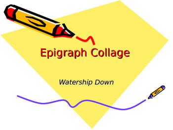 Watership Down Epigraph Collage