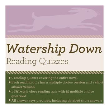 Watership Down Reading Quiz Bundle