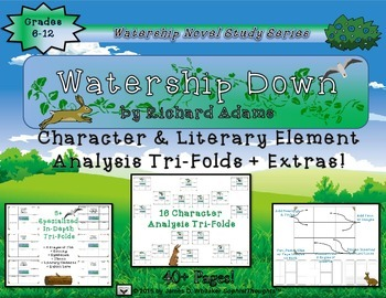 Watership Down by Richard Adams Character and Plot Analysis Tri-Folds