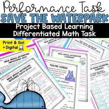 Summer Waterslide Park Performance Based Learning (PBL) Math Task