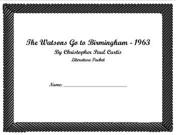 Watson's Go to Birmingham Literature Packet