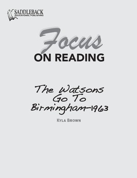 Watsons Go To Birmingham 1963 Study Guide: Focus on Reading