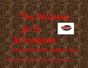 Watsons Go To Birmingham Final Test