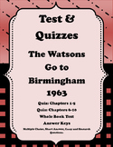 Watsons Go to Birmingham 1963: Quizzes and Tests Plus a Review Game Bundle