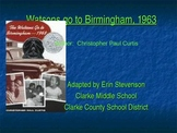 Watsons Go to Birmingham, 1963 - adapted book for learners with special needs