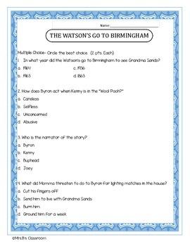 Watson's Go to Birmingham Assessment