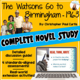The Watsons Go to Birmingham *Novel Study* Discussion Guide, 3 Tests, & MORE!