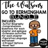 Watsons Go to Birmingham 1963 UNIT Bundle; Reading Comprehension
