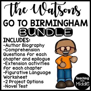Watsons Go to Birmingham UNIT multiple choice ?s, activiti